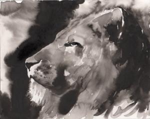 Lion in Ink